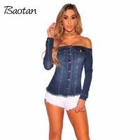 Summer Shirts Women Blouses 2017 Fashion Jean Blouse Denim Shirt Female Button Long Sleeve Blouse Casual