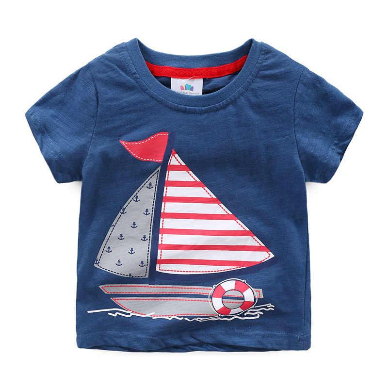 Baby Zeilen T-shirt 2019 Zomer Nieuwe Jongen Kinderkleding Kinderen Korte Mouwen
