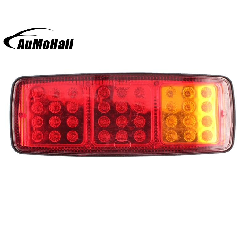 2 pcs/ set 36 Led Rear Truck Auto Car Van Lamp Tail Light Trailer Car styling 1 pair 24v 36 led trailer car truck led tail light lamp auto rear light tail light