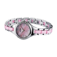 KIMIO Women Fashion Quartz Bracelet Watch Pink