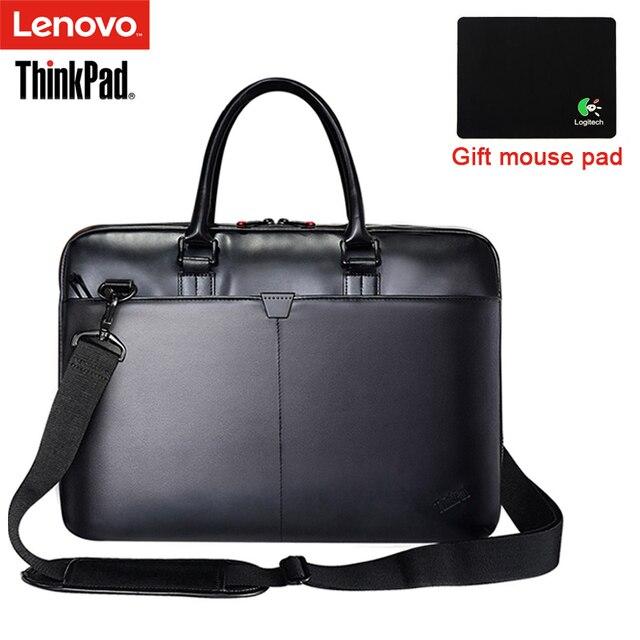 Lenovo ThinkPad Laptop Bag Leather Shoulder Bags Men and Women Handbag  Briefcase T300 For 15.6 inch 325ebede4b0ff