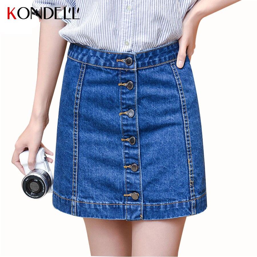 KNODELL Womens Blue Vintage Denim Skirts A Line Plus Size ...