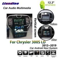 Liandlee 13,3 дюймов 2 + 32 г для Chrysler 300 S LD 2012 ~ 2019 Android автомобильный вертикальный экран Зеркало Ссылка BT gps Navi навигации мультимедиа