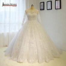 Vestido de casamento do vintage vestido de baile de princesa vestido de noiva de renda cheia