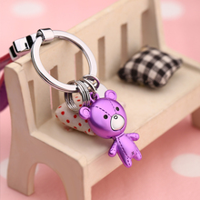 Car Keychain Charms Pendant For Car Key Bear Shape Lovers Decorative Keyring Creative Gift For Couple