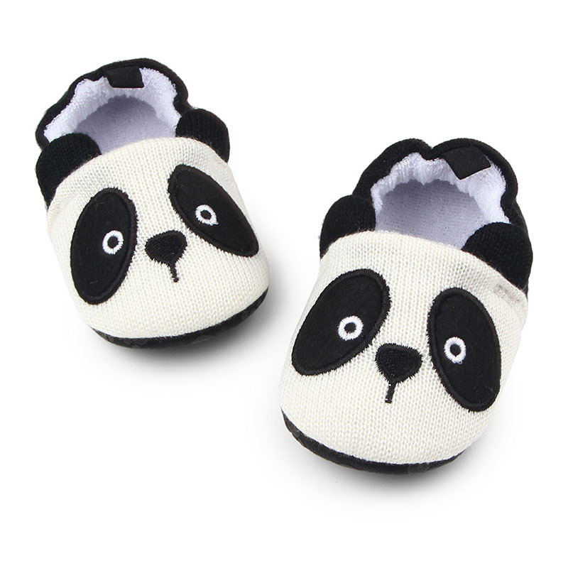 Cute Cartoon Baby Girls Boys First Walk Slippers Shoes Anti-Slip Baby Bedding Toddler Floor Shoes Sneakers