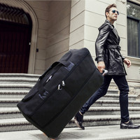 Oxford cloth Trolley case,Foldable Luggage,One way wheel suitcase,Practical storage Trunk,34Large capacity air carrier valise