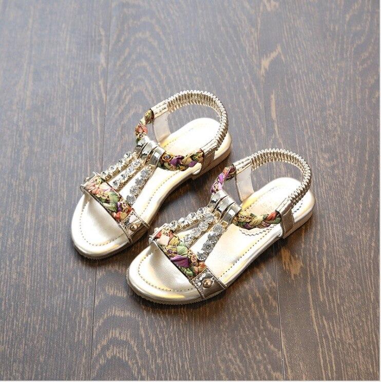 sandale fillette ete 2017 shoes girls sandals kids fashion princess flat summer in sandals from. Black Bedroom Furniture Sets. Home Design Ideas