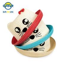 cbcc894e DMROLES Straw Hats Kids Summer Cap Baby Sun Hat For Girl Boys Bucket Cap  For Children Hat Beach Panama Caps Panda Cute