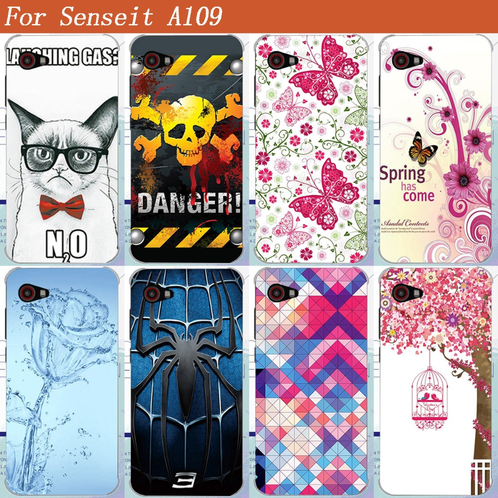 HOT Selling Painting Protective Phone Cover For Senseit A109 A 109 DIY Colored Painted TPU Phone Cover Case For Senseit A109