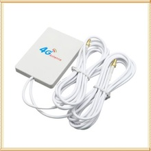 Double TS9 connector  4g Lte Pannel Antenna 3g external Anetnna for huawei ZTE modem router 2M cable