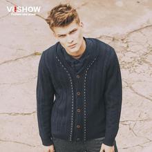 Viishow 2016 fashion autumn winter Mens sweaters male V neck winter Cardigan men Knitwear Sweater Slim brand cardigan masculino