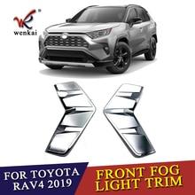 ABS Cromato Anteriore Nebbia Luce Della Lampada Della Decorazione Della Copertura Della Pagina Trim Per Toyota RAV4 2019 2020 Accessori per Auto