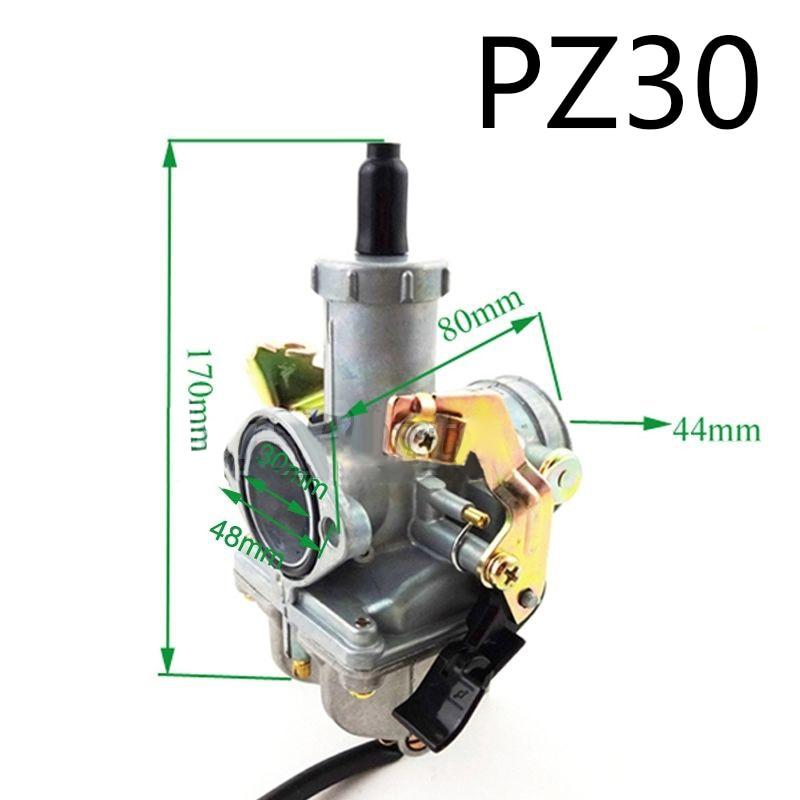 1pc 30mm Carburetor For PZ30 200cc 250cc Pit Dirt Bike ATV Quad 4 Wheeler  Engine Motorcycle Motor Bike Accessory