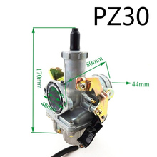 1pc 30mm  Carburetor For PZ30 200cc 250cc Pit Dirt Bike ATV Quad 4 Wheeler Engine Motorcycle Motor Bike Accessory motorcycle cylinder kit 250cc engine for yamaha majesty yp250 yp 250 170mm vog 257 260 eco power aeolus gsmoon xy260t atv
