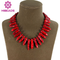 High Quality Party Jewelry Natural Red Coral Necklace Baroque Indian Coral Jewelry Free Shipping CN011