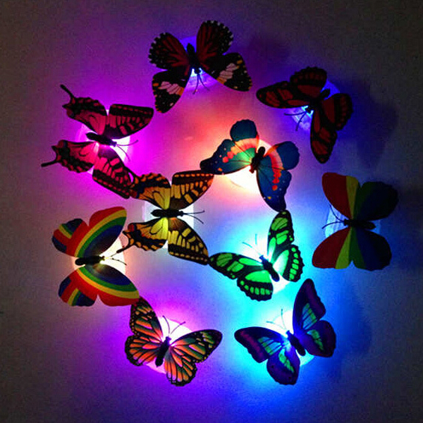 1pcs Color light Butterfly Wall Stickers easy installation night light Home living kid room Fridage bedroom decor1pcs Color light Butterfly Wall Stickers easy installation night light Home living kid room Fridage bedroom decor