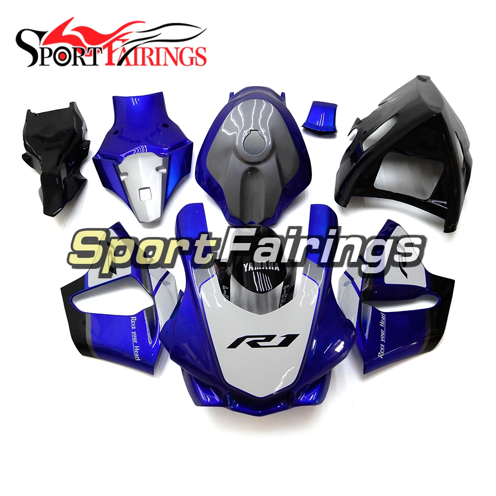 Fiberglass Racing Full Fairings For Yamaha R1 2015 2016 Fairing Kits YZF-R1 2015 2016 Motorcycle Cowlings Blue Black Body Kits injection molding kit for yamaha r1 1998 1999 fairings blue white yzf r1 98 99 fairing set tt93