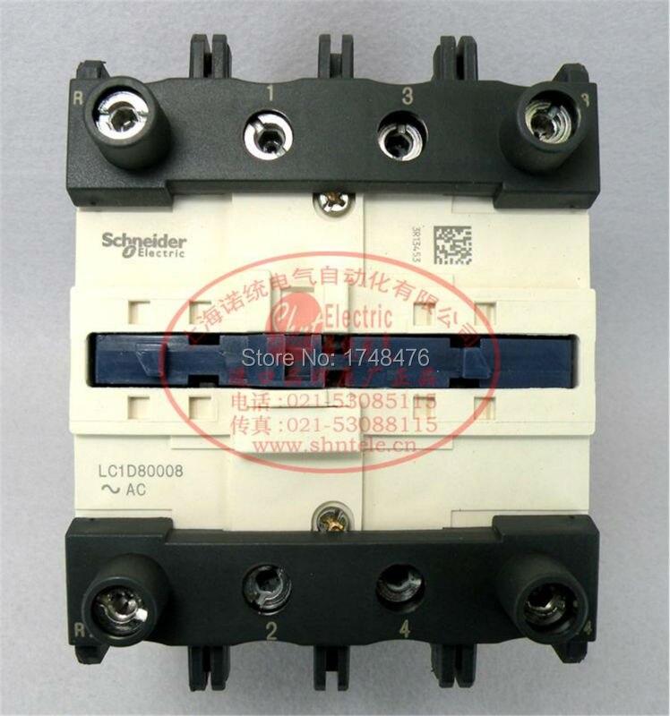ФОТО TeSys D Contactor 4P 125A LC1D80008 LC1D80008F7  LC1-D80008F7 110V AC