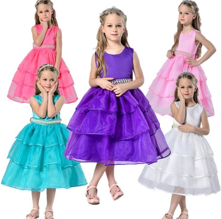 Compra vestido de la dama de honor de los niños 3d online al ...