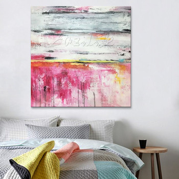 Hand painted canvas oil paintings Cheap large modern abstract oil painting wall decor Art pictures for bedroom