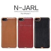 Para el iPhone de Apple 7 7 más nillkin n-jarl inalámbrico receptor de carga caso textura PC caso de la contraportada para iPhone7 7 más