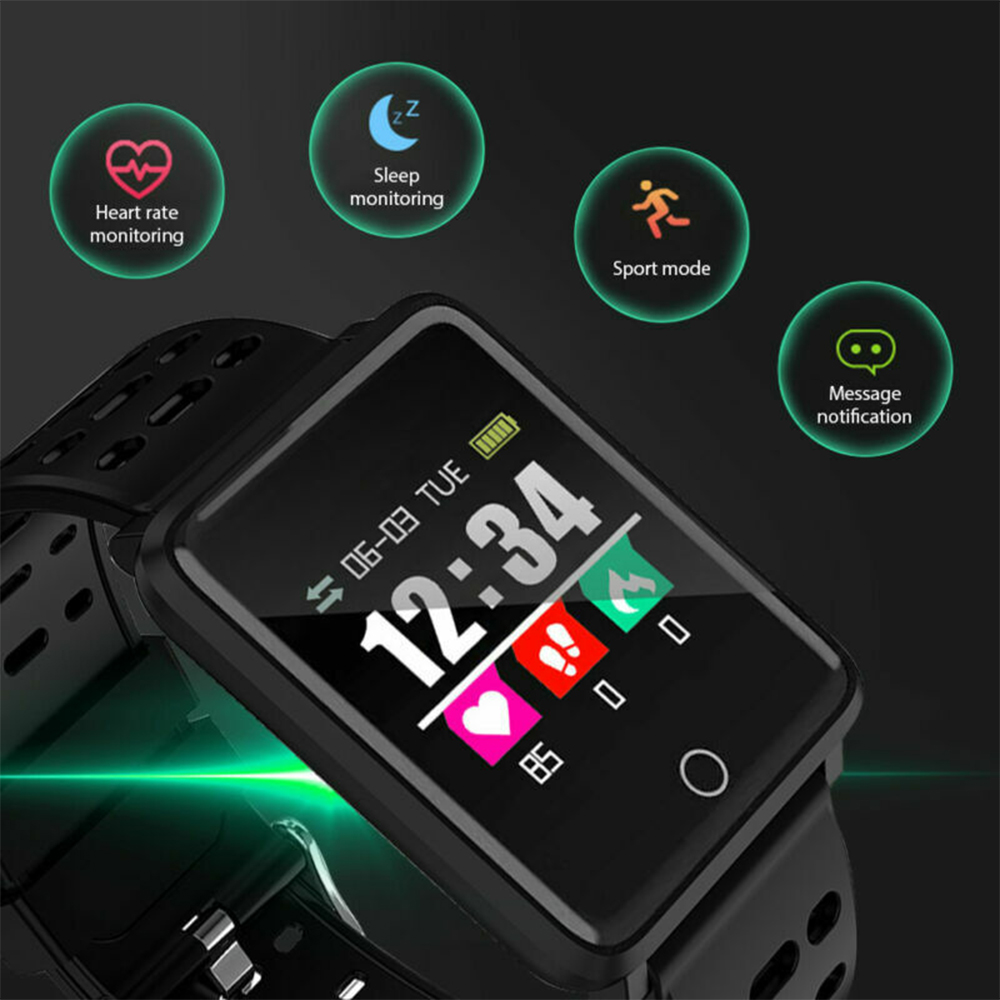 F3 Smart Watch Heart Rate Health Monitor Wristband For IOS Android GPS Track Movement IP68 Waterproof Health Watch in Smart Watches from Consumer Electronics