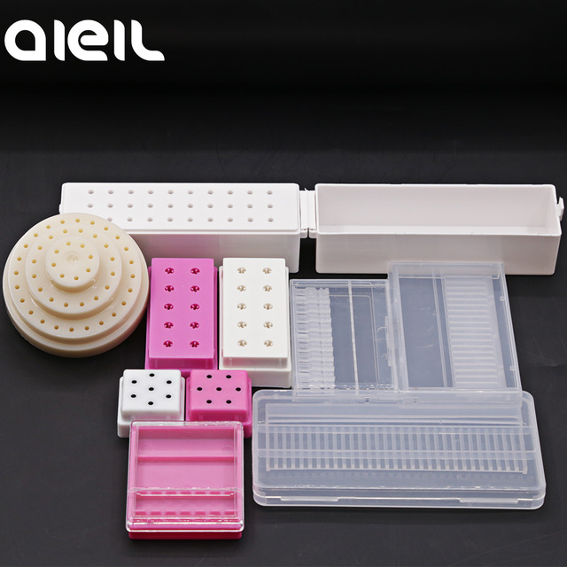 Stand Display Container Holder Nail Drill Bit Storage Box For Nail Drill Bit Holder Milling Cutter For Manicure Tool Accessories 2