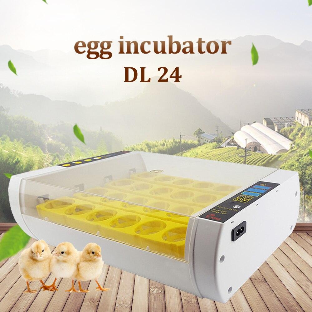 24 инкубатор Хэтчер автоматический инкубатор умный контроль аппарат для искусственного высиживания для курицы Утка Птица перепел