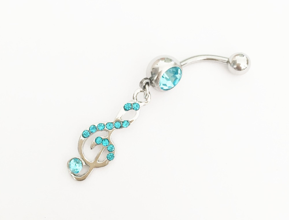 Belly rings musical notes fashion body piercing jewelry