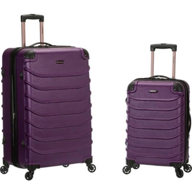 Rockland F230-PURPLE 20 x 28 in. Speciale Expandable Abs Spinner Suitcase Set Purple - 2 Piece pm company expandable dark green transit sack 18w x 4d x 14h 04647 dmi ea