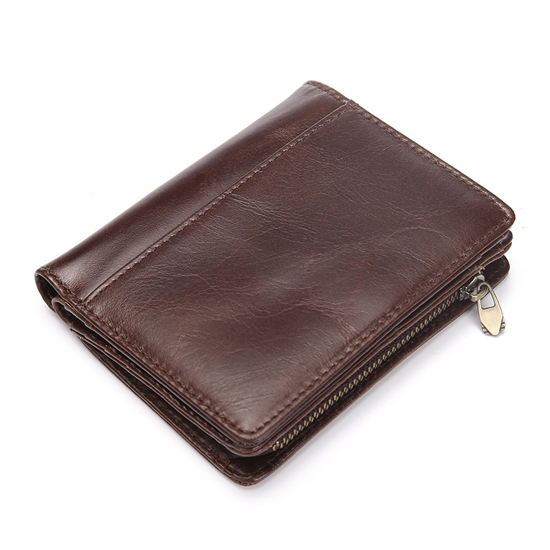 Cow Leather Wallet Men Purse Small Zipper Men's Wallets Coin Zipper Mini Male Purse Zipper Genuine Leather Wallet Men Clutch Bag high quality leather men s clutch wallets wholesale leather clutch bag zipper coin bag men big wallet wholesale drop shipping
