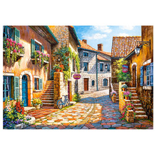DIY Diamond Painting beach town scenery embroidery small Mosaic Corss Stitch leisure landscape