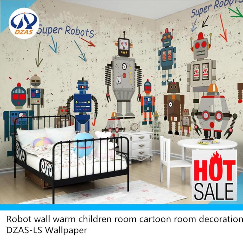 Робот стена теплая детская комната мультфильм украшение комнаты DZAS-LS обои