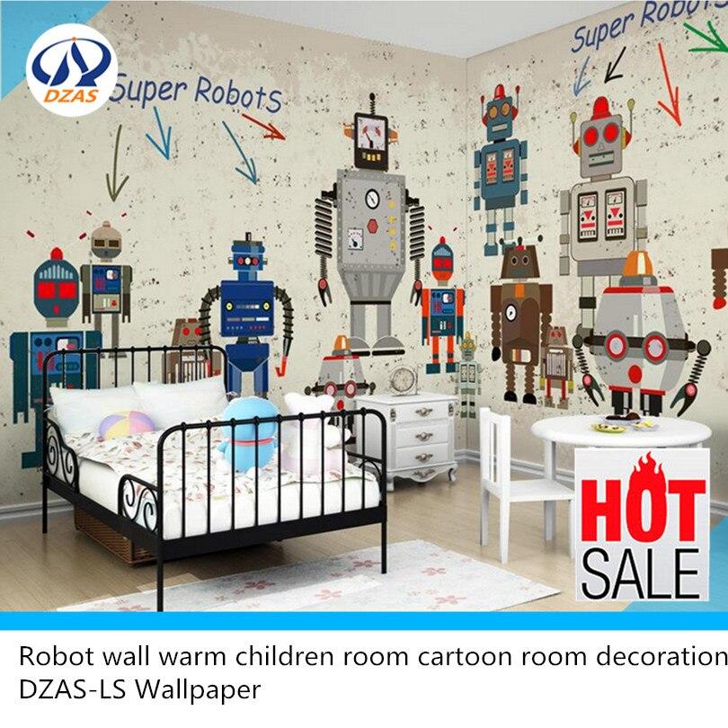 Robot wall warm children room cartoon room decoration DZAS-LS Wallpaper статуэтка my robot