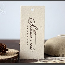 Traditional style high - end tag custom design printing clothing tags