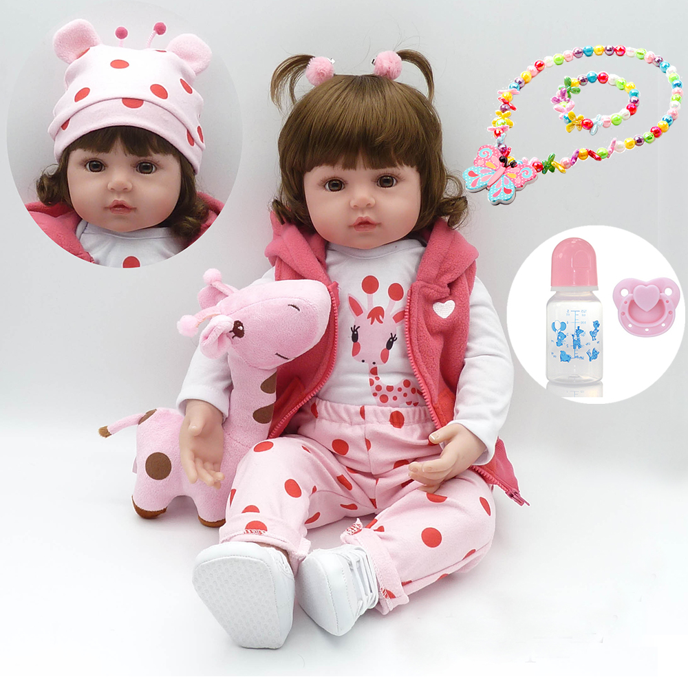 "58cm big reborn silicone Baby Doll Toys 23"" Princess Toddler bebe photo props collectible doll Brinquedos play house toys girl"