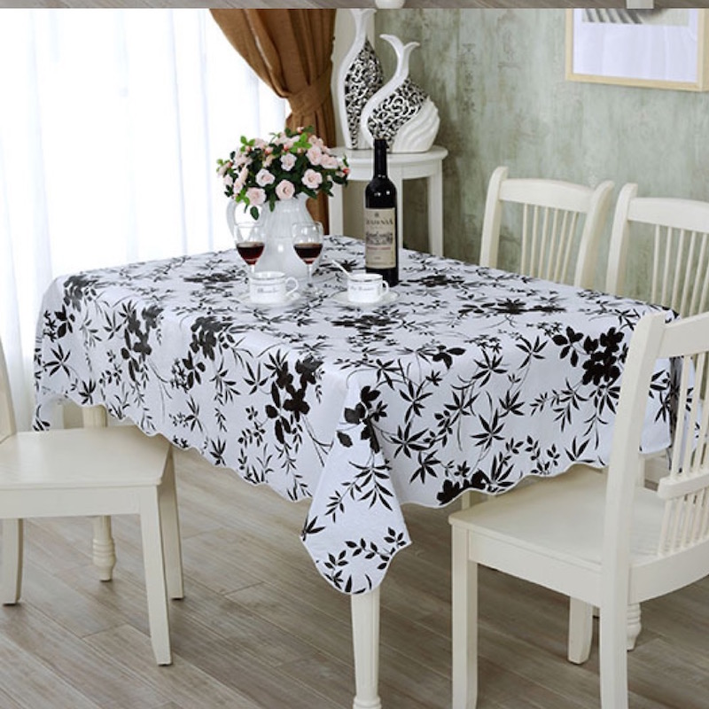 152x203cm Flannel Backed Vinyl Pvc Tablecloth Plastic