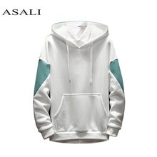 ASALI 2019 Men Tops Hoodies Sweatshirts Style Hood Pullover Spring Autumn Male Large Size Warm Fleece Coat Tracksuit Sport Suit(China)