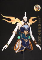 Anime Clothes LOL the Lady of Luminosity Cos Luxanna Spring goddess Lux Cosplay Costumes Full Sets