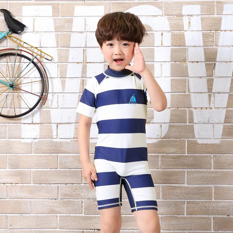Children swimsuit boy sunscreen suits swimwear cartoon baby infant beach beach hot spring swimwear