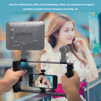 Mcoplus camera Handheld Smartphone Video Rig Stabilizer Cage for Camera iPhone Instagram Video Microphone LED ligth Tripod Mount