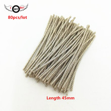 80pcs/lot Length 45mm 3 Strands Speaker Lead Wire Braided Copper Cable 12 Core Nerve Wire DIY For Su