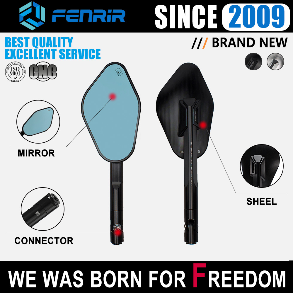 FENRIR motorcycle mirrors side mirror moto Accessories for suzuki honda benelli BMW Yamaha KTM aprilia triumph