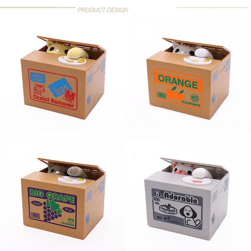 Kitty Cat Spargris Saving Box Söt Panda Automatiskt Stål Mynt - Heminredning - Foto 3