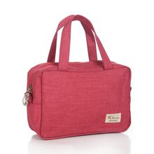 Large-capacity matte cloth cosmetic bag Oxford cloth wash bag portable travel daily necessities storage bag
