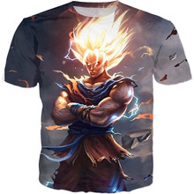 2017 (6 Styles) Dragon Ball Z Graphic T-Shirts Fashion Short Sleeve Tee Goku Vegito
