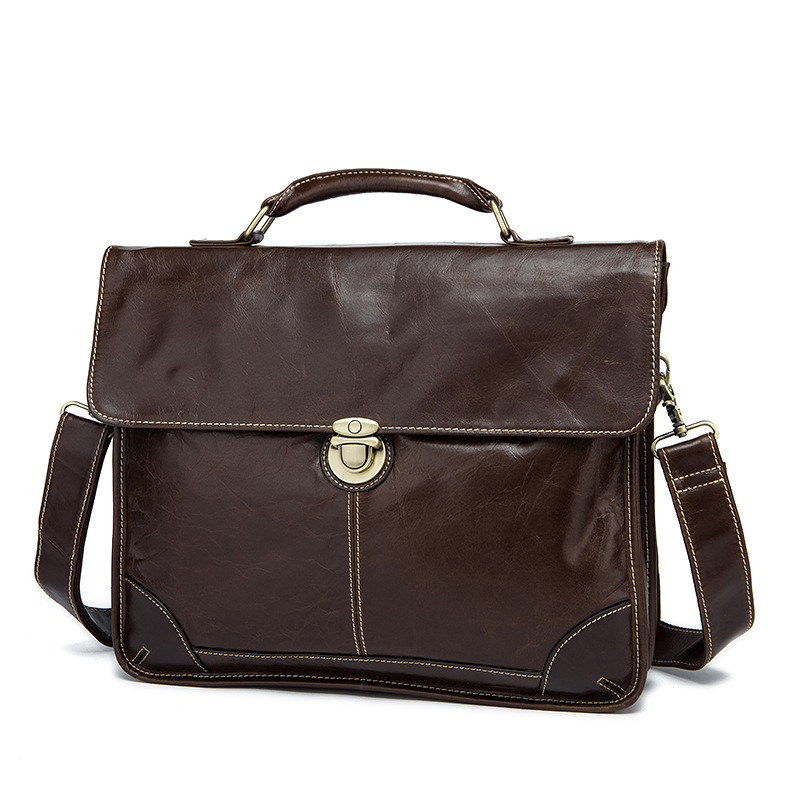 Cow Leather Men 's Briefcase Retro Genuine Leather Business Office Computer Bag Handmade Briefcase cow leather men s briefcase retro genuine leather business office computer bag handmade briefcase