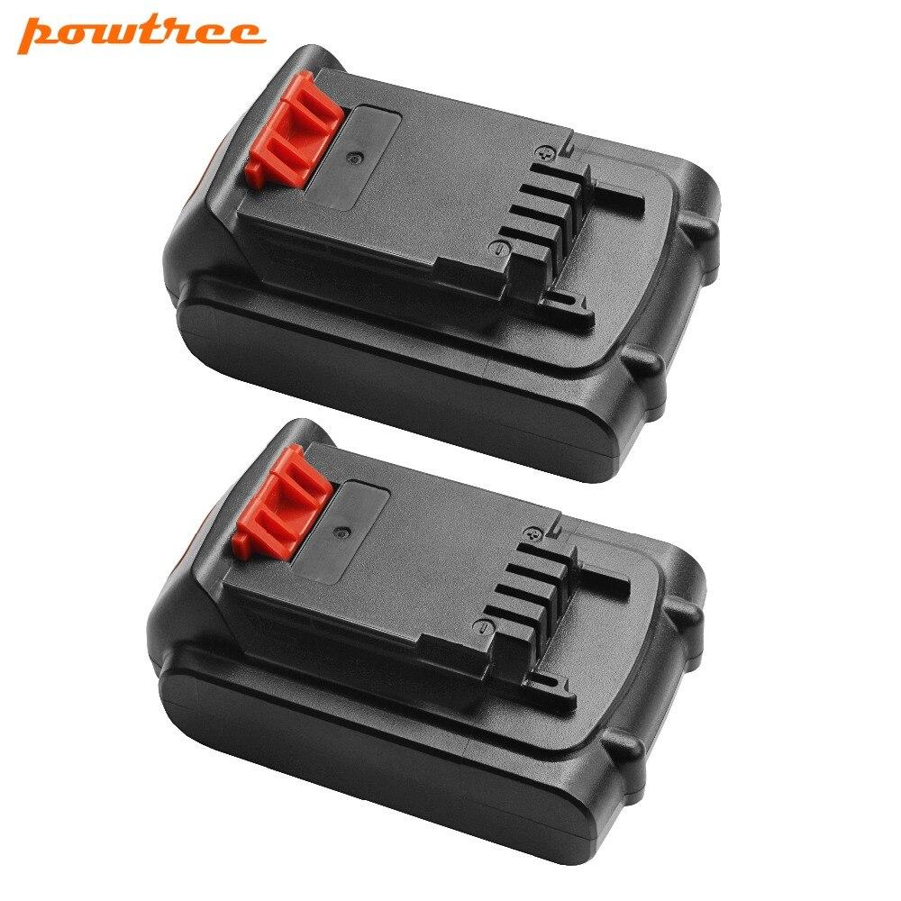 2X 20V 2000mAh Li ion LBXR20 Rechargeable battery For Black Decker LB20 LBX20 LST220 LSW20 SSL20SB SSL20SB 2 ASL186K ASL188K L10 in Replacement Batteries from Consumer Electronics