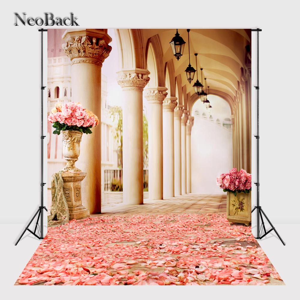 NeoBack Vinyl Cloth Palace Stage Background Wedding Photography Backdrops Festival Background Studio For Photography P2400 white stage background snow pine snow blue sky festival background wedding photography backdrops